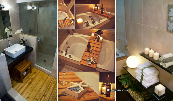 19 affordable decorating ideas to bring spa style to your - How to decorate your bathroom ...