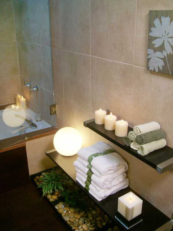 19 affordable decorating ideas to bring spa style to your small bathroom amazing diy interior. Black Bedroom Furniture Sets. Home Design Ideas