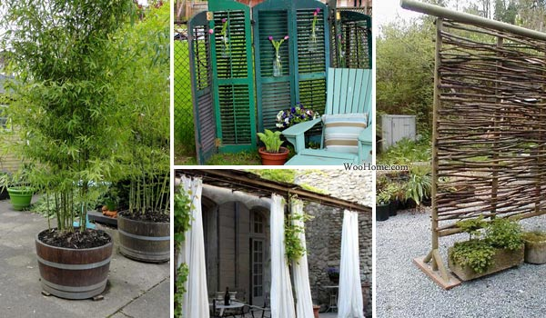 22 fascinating and low budget ideas for your yard and for Balcony privacy solutions