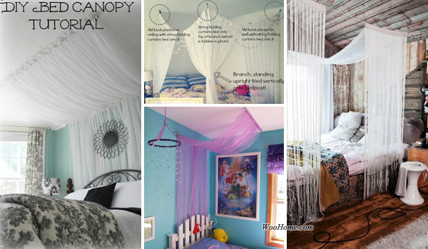 Creative and Simple DIY Bedroom Canopy Ideas on A Budget ...