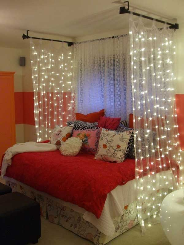 20 magical diy bed canopy ideas will make you sleep romantic. Black Bedroom Furniture Sets. Home Design Ideas