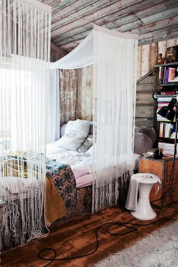 magical diy bed canopy ideas will make you sleep romantic, Bedroom decor