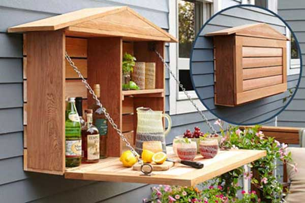 24 practical diy storage solutions for your garden and for How to build a mini bar cabinet