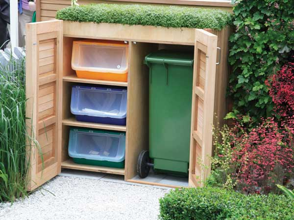 24 practical diy storage solutions for your garden and yard - Cacher poubelles exterieures ...