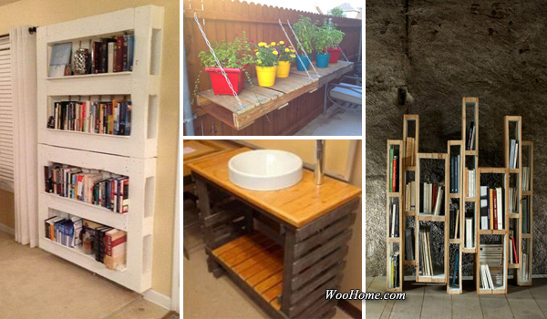 25 easy and cheap pallet storage projects you can make Cheap home storage ideas