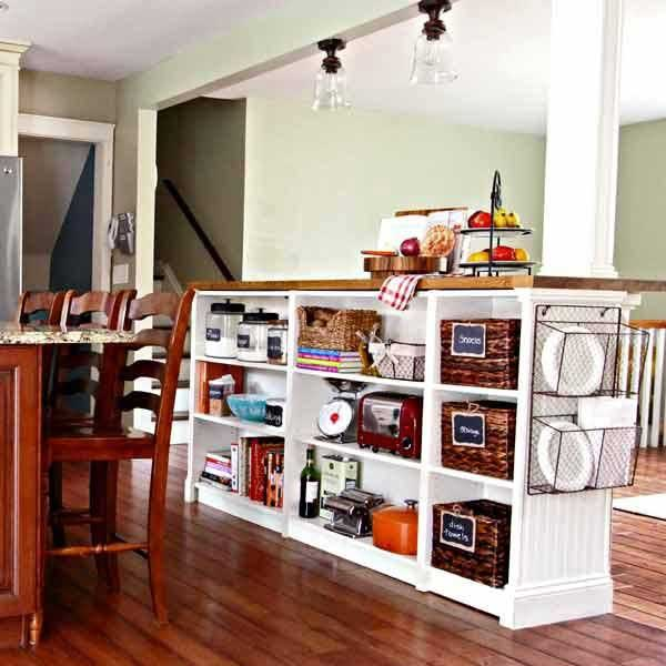 Low Cost Kitchen Updates: 23 Money Saving Ways To Repurpose And Reuse Old Bookcases