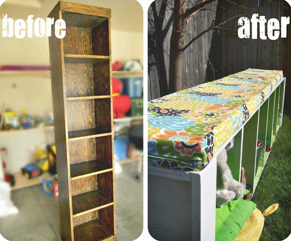 23 Money Saving Ways To Repurpose And Reuse Old Bookcases