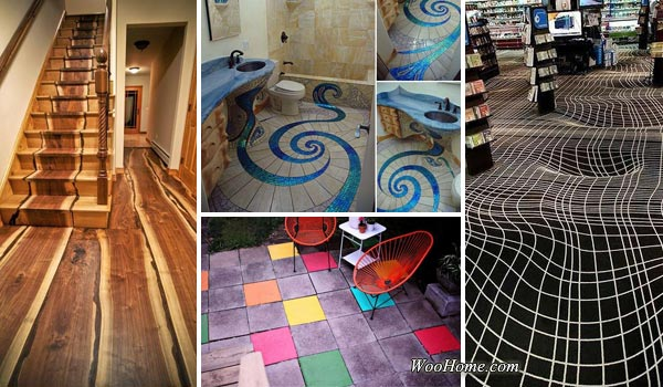 32 Amazing Floor Design ideas for Homes Indoor and Outdoor