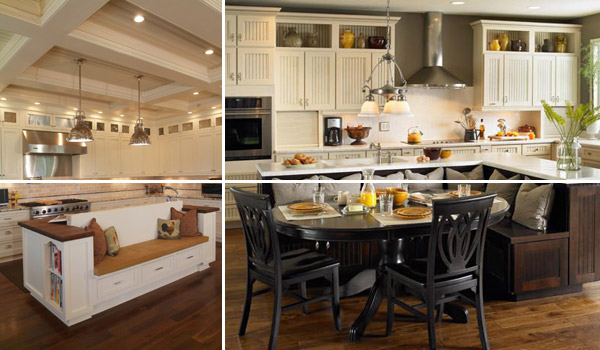 19 must see practical kitchen island designs with seating for Kitchen ideas no island