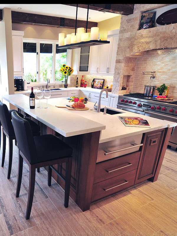 kitchen island designs with seating and stove 19 must see practical kitchen island designs with seating 9800