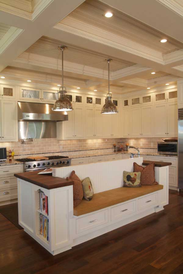 kitchen island with seating woohome 4 - Picture Of Kitchen Islands