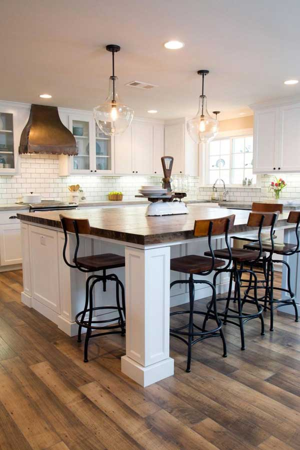 19 must see practical kitchen island designs with seating for Large kitchen island ideas with seating