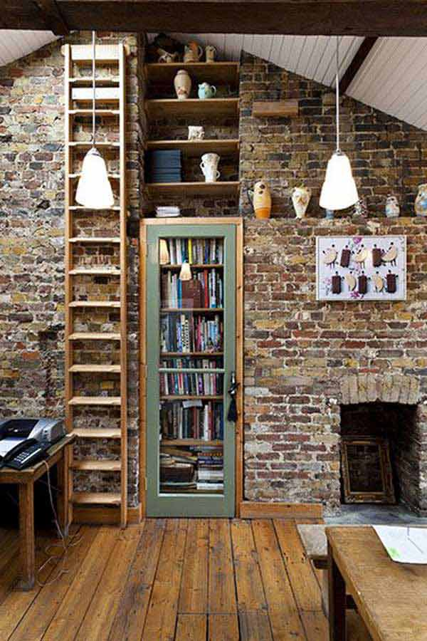 Library Design Ideas Part - 46: Wall-library-ideas-woohome-2