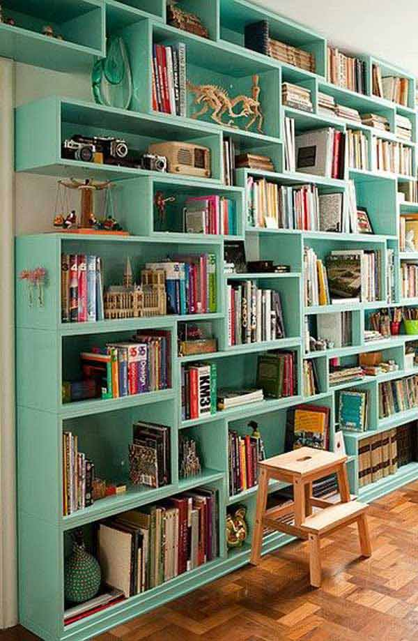 Good Library Design Ideas Part - 9: Wall-library-ideas-woohome-6