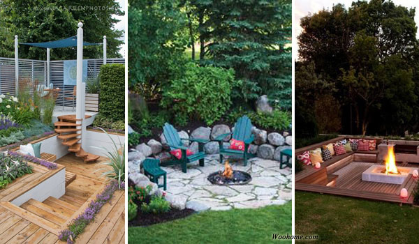 23 impressive sunken design ideas for your garden and yard amazing diy interior home design - Outdoor design ideas for small outdoor space photos ...