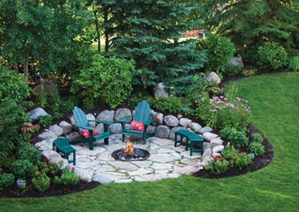 Superb Yard Patio Garden Sunken Woohome 1