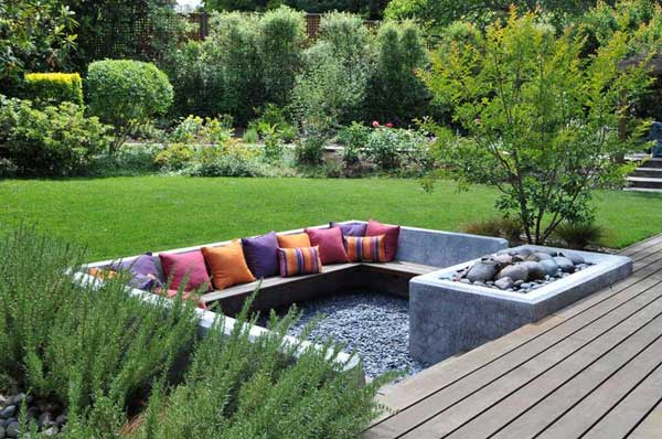 How To Design A Garden how to design a garden on a slope Yard Patio Garden Sunken Woohome 11