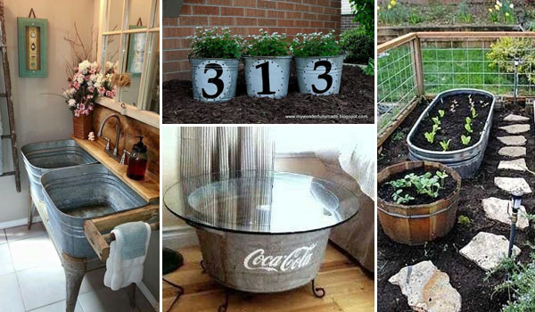 Smart Ways To Reuse And Repurpose Galvanized Tub U0026 Buckets