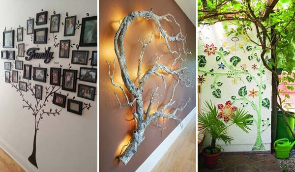 30 fantastic wall tree decorating ideas that will inspire you - Diy Home Wall Decor Ideas