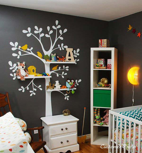25 Wall Decoration Ideas For Your Home: 30 Fantastic Wall Tree Decorating Ideas That Will Inspire You