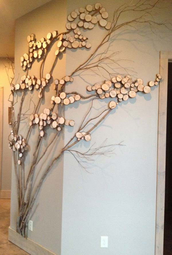 30 fantastic wall tree decorating ideas that will inspire for Wood walls decorating ideas