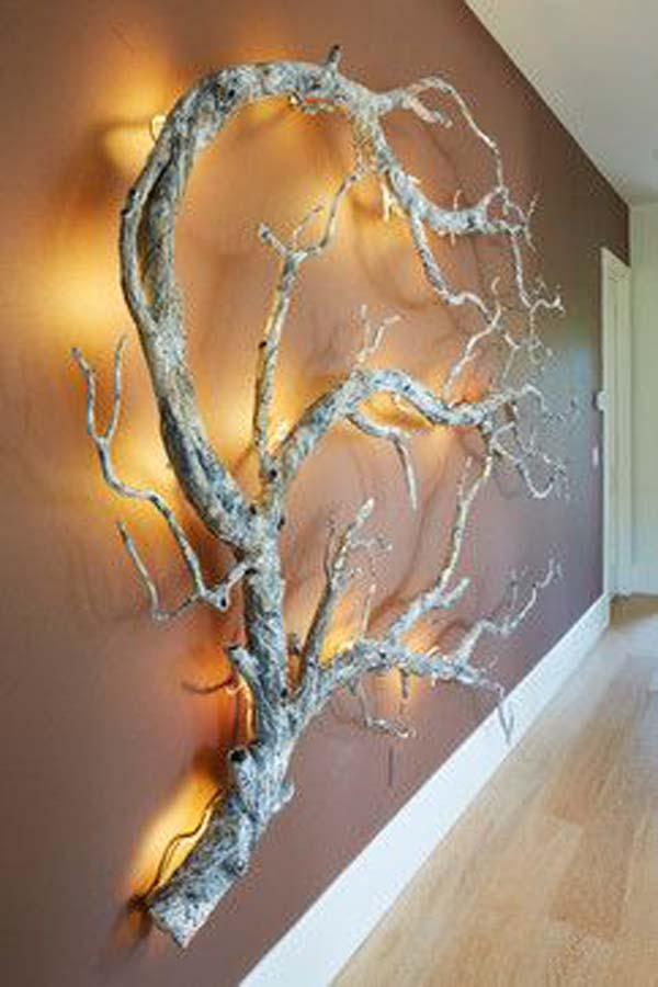 Diy Wall Decor Lights : Fantastic wall tree decorating ideas that will inspire