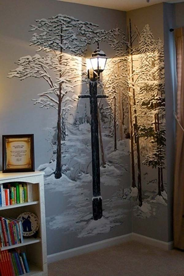 30 Fantastic Wall Tree Decorating Ideas That Will Inspire ...