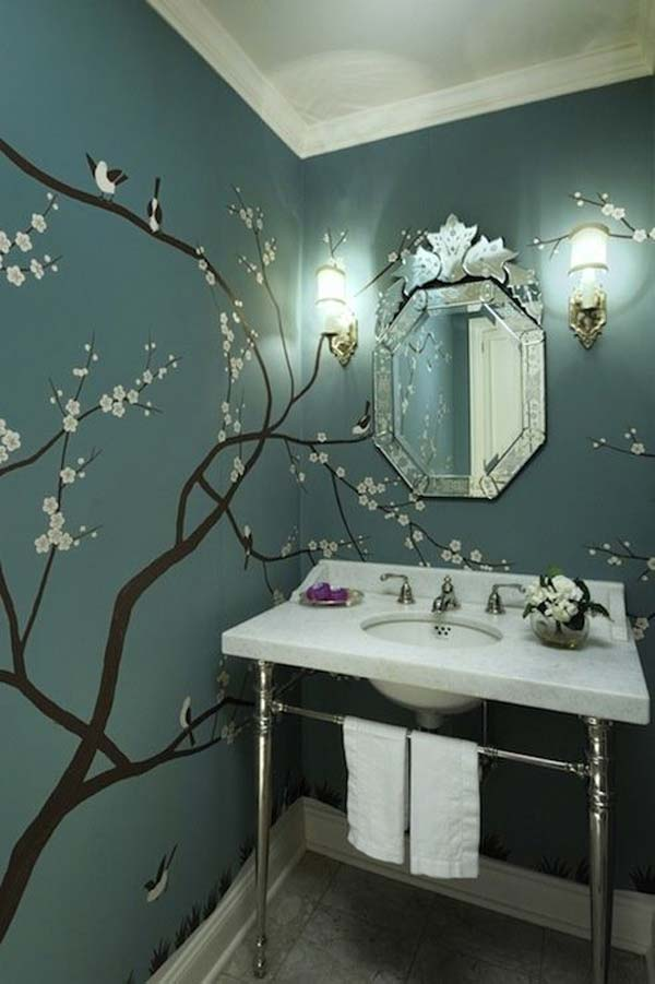 wall tree decorating ideas woohome 4 - Interior Design On Wall At Home