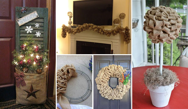 Marvelous 35 Beautiful DIY Decorating Ideas You Could Do With Burlap
