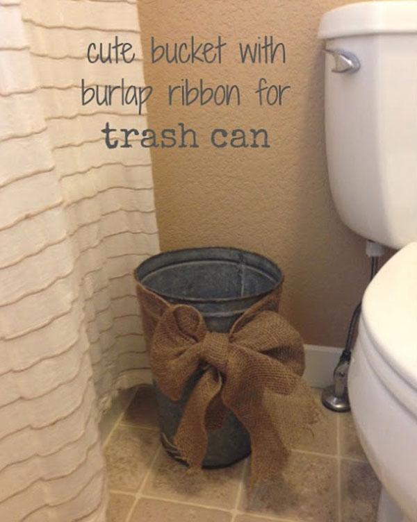 35 Beautiful Diy Decorating Ideas You, Burlap Bathroom Decor