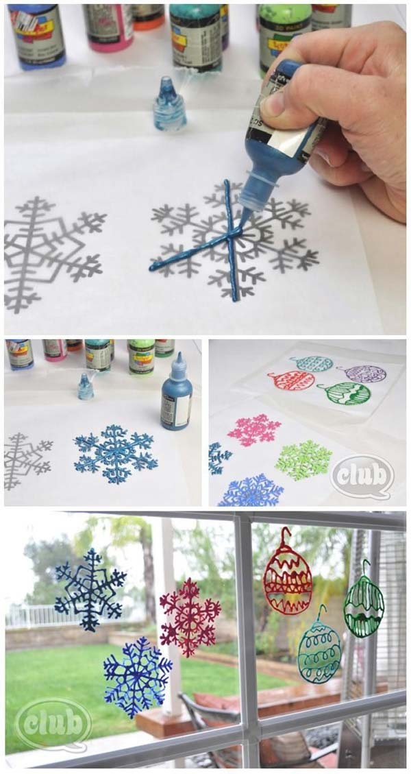 12 Cutest And Easiest DIY Christmas Window Décorations ...