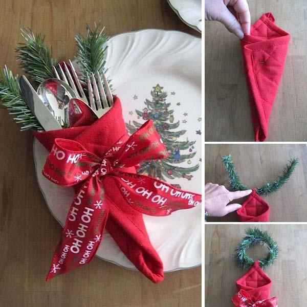 Cheap Home Decor Ideas: Creative Napkin Ideas For Your Christmas Dining Table