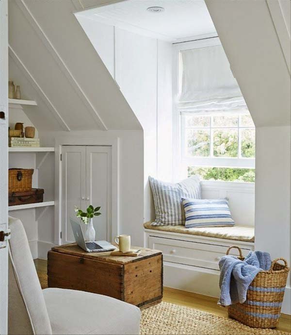 Marvelous Attic Living Space Design 01