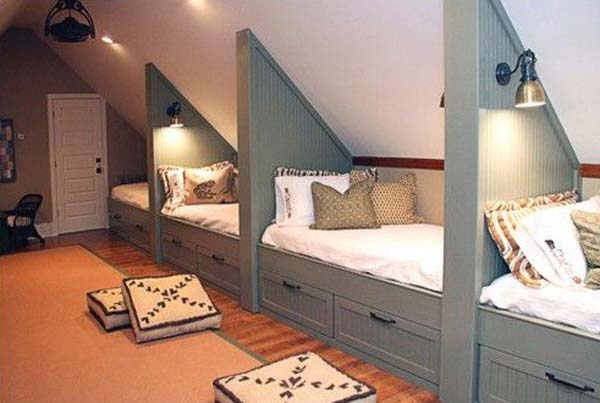 Cleverly increase living space by making use of unused for How to make a loft room