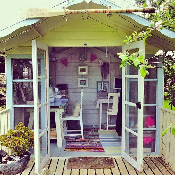 Make working from home work for you hollybobb 39 s for Outside office shed