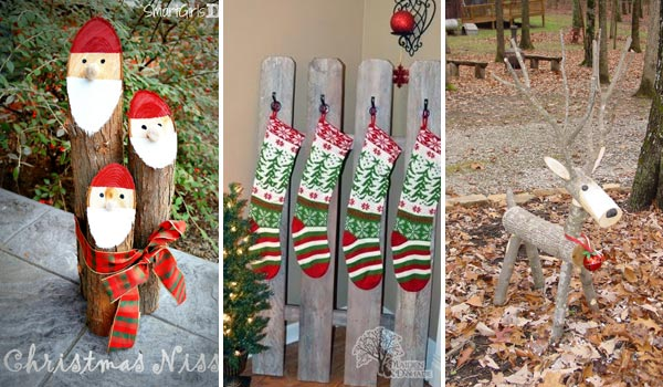 Wood Christmas Decorations.28 Ideas To Decorate Your Home With Recycled Wood This Christmas