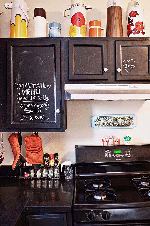21 inspiring ways to use chalkboard paint on a kitchen - Kitchen chalkboard paint ideas ...