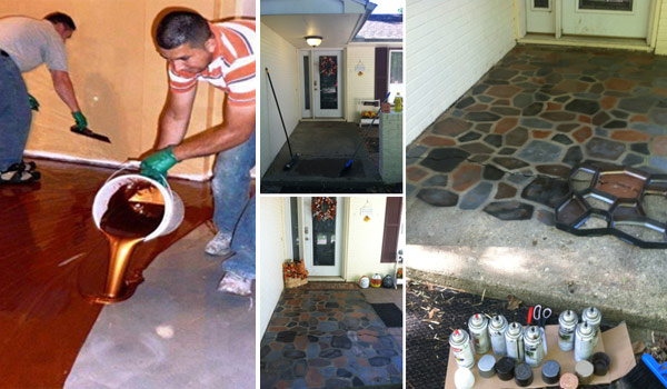 DIY Concrete Flooring Makeover