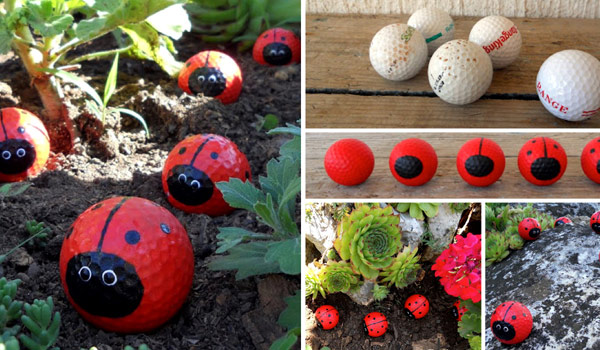 Cute And Easy Golf Ball Ladybugs To Rock Your Garden