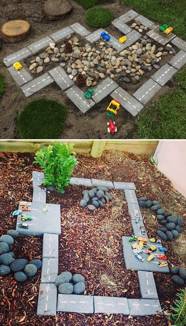 race car track 2 - Garden Ideas For Toddlers
