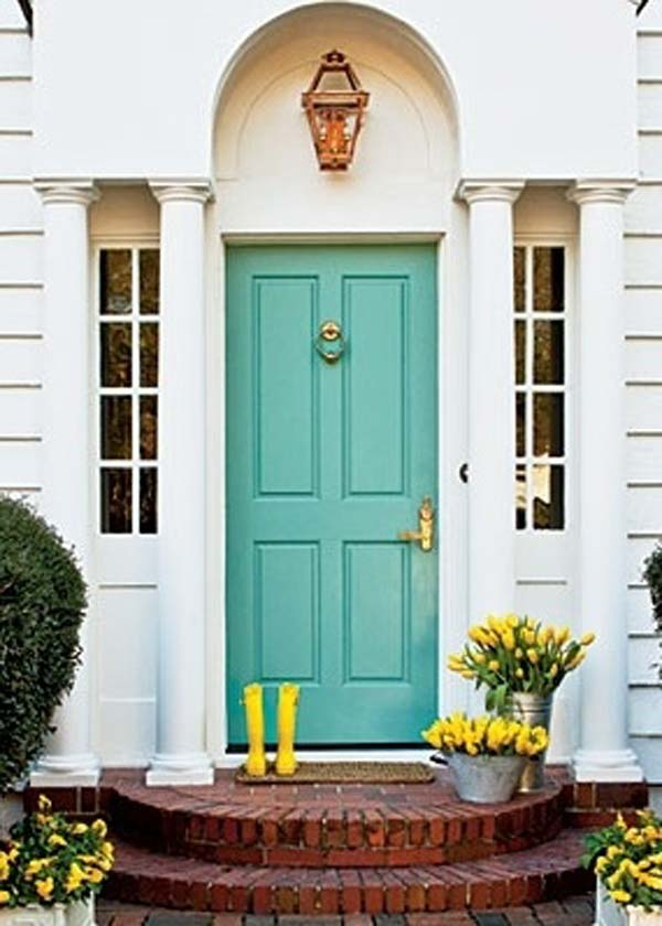 Beautiful Front Doors 32 bold and beautiful colored front doors - amazing diy, interior