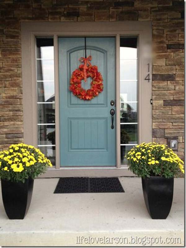 32 bold and beautiful colored front doors