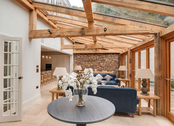 Exposed Wooden Beams Columns 10