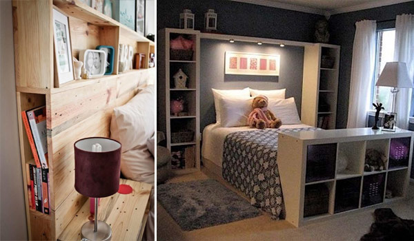 17 headboard storage ideas for your bedroom amazing diy for Cool bed head ideas