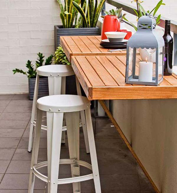 Decking furniture ideas Black Tinybalconyfurniture17 Woohome 26 Tiny Furniture Ideas For Your Small Balcony Amazing Diy