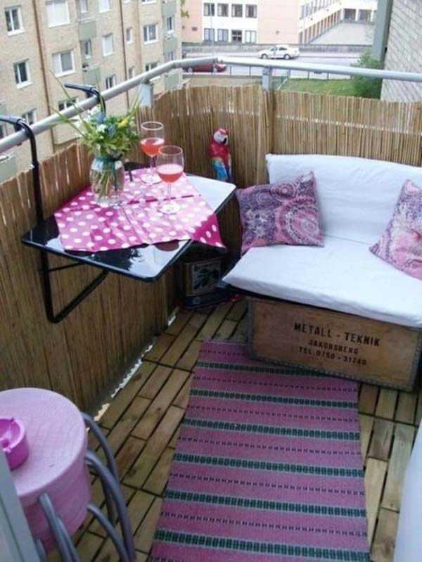 Tiny Balcony Furniture 9