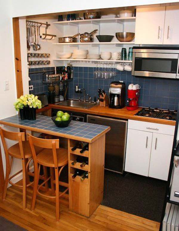 Small Space Kitchens Ideas Part - 23: U-shaped-kitchen-13