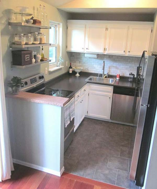 Small Kitchen U Shaped Ideas Part - 49: U-shaped-kitchen-14