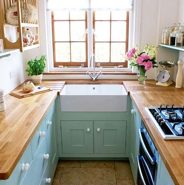 u shaped kitchen 5 - Tiny Country Kitchen Design Ideas