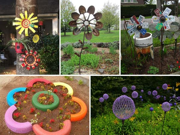 Truly easy and low budget diy garden art flowers amazing for Homemade garden decorations